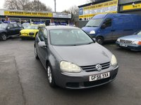 2006 VOLKSWAGEN GOLF 1.6 MATCH FSI 5 DOOR AUTOMATIC 114 BHP IN GREY WITH 93000 MILES BEING OFFERED AS A TRADE CLEARANCE CAR. £2250.00
