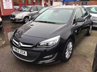 USED 2012 62 VAUXHALL ASTRA 1.6 ELITE 5d 113 BHP 43000 miles, leather, alloys, air/con, lots lots more.