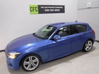 USED 2012 12 BMW 1 SERIES 1.6 118I M SPORT 5d 168 BHP AMAZING CAR IN THE BEST COLOUR ESTORIL BLUE, WITH IMMACULATE BLACK INTERIOR WITH CLOTH/ANIHRAC TRIM AND A LEATHER CLAD  MULTI FUNCTION STEERING WHEEL, DAB RADIO CD WITH AUX/USB CONNECTIONS, STOP START TECHNOLOGY, SPORT/ECO BUTTON, 18INCH UPGRADED ALLOYS, ELEC WINDOWS/MIRRORS , COMFORT PACK, RAIN SENSORS