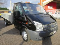 USED 2012 62 FORD TRANSIT 350 EF 13ft 6 4 Metre Alloy Dropside 125 PS *ONLY 55000 MILES* TWIN REAR WHEELS + 6 SPEED + ALLOY BODY