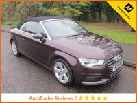 USED 2015 15 AUDI A3 1.6 TDI SPORT 2d 109 BHP. *ULEZ COMPLIANT* CONVERTIBLE Fantastic Value Audi A3 Cabriolet with  Climate Control, Cruise Control, 17 Inch Alloy Wheels and Service History. This Vehicle is ULEZ Compliant with a EURO 6 Rated Engine.