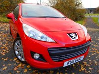 2011 PEUGEOT 207 1.6 CC GT 2d 120 BHP ** CONVERTIBLE , ALLOYS, 1 PREVIOUS OWNER, YES ONLY 36K , LOVELY EXAMPLE ** £4495.00