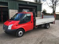 2014 FORD TRANSIT 2.2 350 dropside pick up 125 BHP £8750.00
