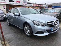 USED 2015 65 MERCEDES-BENZ E CLASS 2.1 E220 BLUETEC SE 4d AUTO 174 BHP 25000 miles, automatic, leather, comfort style and economy, low road tax.