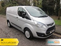 USED 2014 14 FORD TRANSIT CUSTOM 2.2 270 TREND LR P/V 1d 99 BHP Very Nice Silver Ford Transit Custom with Air Conditioning, Cruise Control, Electric Folding Mirrors, Front and Rear Parking Sensors, Electric Windows, Factory Fitted Bulkhead, Ply Lined and Ford Service History