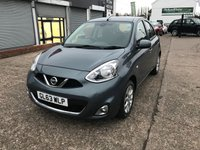 USED 2013 63 NISSAN MICRA 1.2 ACENTA DIG-S 5d AUTO 97 BHP SMALL 5 DOOR AUTOMATIC-1 OWNER-FULL SERVICE HISTORY-BLUETOOTH-ALLOYS