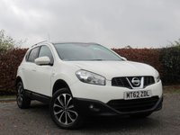 USED 2012 62 NISSAN QASHQAI 1.6 N-TEC PLUS 5d MOT TIL NOV 2019 * 360 VIEW AND REVERSING CAMERA * SATELLITE NAVIGATION * BLUETOOTH * PANORAMIC ROOF * CRUISE CONTROL