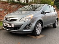 USED 2012 12 VAUXHALL CORSA 1.2 EXCITE AC 5d 83 BHP 2 OWNERS, FULL SERVICE HISTORY, MOT NOV 19, FULLY PREPARED, EXCELLENT CONDITION,  ALLOYS, AIR CON, BLUETOOTH, E/WINDOWS, R/LOCKING, FREE  WARRANTY, FINANCE AVAILABLE, HPI CLEAR, PART EXCHANGE WELCOME,