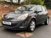 2012 VAUXHALL CORSA 1.2 SE 5d 83 BHP £4500.00