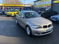2011 BMW 1 SERIES 2.0 118D SE 2 DOOR COUP[E 141 BHP IN SILVER WITH ONLY 44000 MILES £6999.00