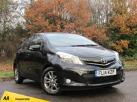 USED 2014 14 TOYOTA YARIS 1.3 VVT-I ICON PLUS 5d 99 BHP MANUFACTURERS WARRANTY 4/19, REAR CAMERA