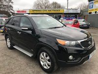 USED 2010 10 KIA SORENTO 2.2 CRDI KX-2 4 WHEEL DRIVE 5 DOOR AUTOMATIC 195 BHP WITH 7 FULL BLACK LEATHER SEATS APPROVED CARS ARE PLEASED TO OFFER THIS  KIA SORENTO 2.2 CRDI KX-2 4 WHEEL DRIVE 5 DOOR AUTOMATIC 195 BHP WITH 7 FULLY LEATHER SEATS,DAB RADIO,AUTOMATIC GEARBOX,ALLOYS AND MUCH MORE WITH A FULL KIA SERVICE HISTORY WITH 7 SERVICE STAMPS IN THE SERVICE BOOK A GREAT 7 SEATER 4X4 FAMILY SUV.