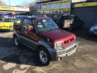 2008 SUZUKI JIMNY 1.3 JLX PLUS 3d 83 BHP IN RED AND GREY WITH AIR CON AND 90000 MILES £4499.00