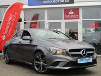USED 2015 65 MERCEDES-BENZ CLA 2.1 CLA 200 D SPORT 4d 134 BHP STUNNING, 1 OWNER, MERCEDES CLA 200 SPORT 2.1 D 134 BHP. Finished in MOUNTAIN GREY Metallic with contrasting Part LEATHER SPORTS interior. This four door coupe is like a stylish mini CLS. It has a big boot and high tech saftety feature inc Front and Rear Park Sensors. Other features inc SAT NAV, B/TOOTH Alloys, Heated Leather, Cruise and much more. Dealer serviced at, 14700 miles, 30245 miles, 45409 miles and at 57104 miles.