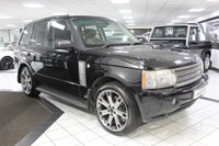 USED 2005 05 LAND ROVER RANGE ROVER 4.2 V8 SUPERCHARGED AUTO 391 BHP REAR DVD 8 STAMPS 22'S HTD LTR