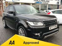 USED 2013 13 LAND ROVER RANGE ROVER SPORT 3.0 SDV6 HSE DYNAMIC 5d AUTO  Diesel  £3010.00 of Optional Extras Heated and Cooled Front and Rear Seat Analogue and Digital TV Park Assist 4x4 Diesel Full Size Spare wheel Santorini Black Metallic 12 Months FREE AA Breakdown Cover