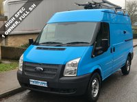 USED 2013 13 FORD TRANSIT 2.2 FWD 330 MWB MEDIUM ROOF 125 BHP 6 SPEED 1 Owner, Full Service History, High Spec