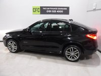 USED 2015 65 BMW X4 2.0 XDRIVE20D M SPORT 4d AUTO 188 BHP 4 WHEEL DRIVE AMAZING GERMAN BUILD QUALITY IN GLEAMING BLACK,WITH BLACK DAKOTA HEATED LEATHER, ONE OWNER FROM NEW WITH FULL BMW SERVICE HISTORY, 2 KEYS, PROFESSIONAL MEDIA PACK, M SPORT PLUS PACKAGE, LOOKS AND DRIVES LIKE NEW