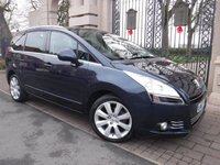 USED 2013 63 PEUGEOT 5008 1.6 E-HDI ALLURE 5d AUTO 115 BHP FINANCE ARRANGED***PART EXCHANGE WELCOME***1 OWNER***SERVICE HISTORY***7 SEATS***BLUETOOTH***AIR CON***PANORAMIC ROOF