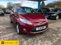 USED 2011 11 FORD FIESTA 1.4 ZETEC 16V 5d 96 BHP NEED FINANCE? WE CAN HELP