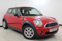 USED 2010 10 MINI HATCH FIRST 1.4 FIRST 3DR 75 BHP SERVICE HISTORY + AIR CONDITIONING + RADIO/CD/AUX + ELECTRIC WINDOWS + ELECTRIC MIRRORS + 15 INCH ALLOY WHEELS