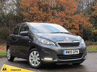 USED 2015 15 PEUGEOT 108 1.0 ACTIVE 5d 68 BHP FULL TOUCH SCREEN MEDIA