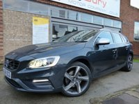 USED 2014 VOLVO V60 2.0 D3 R-DESIGN LUX 5d AUTO 134 BHP ONE ONWER FULL VOLVO SERVICE HISTORY & GREAT SPECIFICATION AUTOMATIC