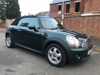 USED 2010 10 MINI CONVERTIBLE 1.6 COOPER 2d 122 BHP