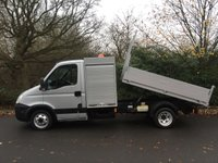 USED 2009 09 IVECO DAILY LWB TOOL BOX TIPPER 3.0 LTR 150 BHP 35C15 40K TREE SURGEON ARBORIST TRUCK DIRECT 1 OWNER SILVER