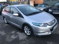 2009 HONDA INSIGHT 1.3 IMA ES 5d AUTO 100 BHP HYBRID IN SILVER WITH 79000 MILES AND A FULL HONDA MAIN DEALER SERVICE HISTORY. £5499.00