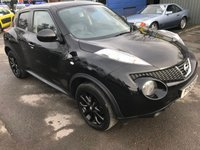 2012 NISSAN JUKE 1.5 KURO DCI 5d 110 BHP WITH 66000 MILES IN SOLID BLACK WITH BLACK WHEELS AND BLACK LEATHER INTERIOR £6999.00