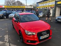 2013 AUDI A1 1.6 TDI S LINE STYLE EDITION 3d 103 BHP IN RED WITH HALF LEATHER INTERIOR AND A FULL SERVICE HISTORY. £8799.00
