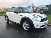 2009 MINI HATCH ONE 1.4 ONE salt pack pepper white 2 owners 37000 miles new discs/pads recent tyres service history  £4495.00