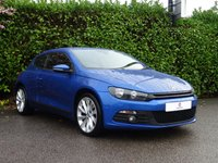 "USED 2009 09 VOLKSWAGEN SCIROCCO 2.0 GT 3d 200 BHP Sat Nav, Bluetooth, 18"" Alloy Wheels, Finished In Impact Blue Metallic Paintwork, Privacy + Tinted Glass, Dual Climate Control, Air Conditioning, Front + Rear Fog Lights, Auto Lights, Drive Away In Under 1 Hour"