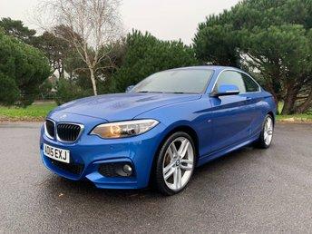 2015 BMW 2 SERIES 2.0 220D M SPORT 2d 188 BHP £15750.00