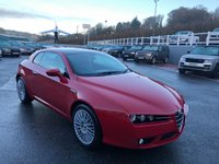 USED 2007 56 ALFA ROMEO BRERA 3.2 JTS V6 Q4 SV 2d 260 BHP Alfa Red with Black & Grey leather heated seats, glass sunroof ++ Low miles