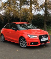 USED 2014 64 AUDI A1 1.6 TDI S LINE STYLE EDITION 3d 103 BHP Audi A1 Stlye Edition 1.6 TDI Misano Red Pearl Effect Brilliant Black Satellite Navigation