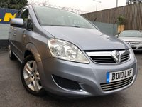 USED 2010 10 VAUXHALL ZAFIRA 1.6 EXCLUSIV 5d 113 BHP ONLY TWO PREVIOUS OWNERS