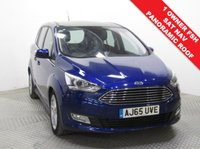 USED 2015 65 FORD GRAND C-MAX 2.0 TITANIUM X TDCI 5d AUTO 148 BHP 7 SEATS SAT NAV 1 Owner, Full Service History and has an MOT until 23rd September 2019. This is a stunning example of a Ford Grand C Max 2.0 Titanium X AUTO in beautiful metallic Deep Impact Blue. This car comes with the best spec including SAT NAV, Glass Panoramic Roof with electric blind, Half Leather, Heated Seats,  Front & Rear Parking Sensors, Active Park Assist, Bluetooth, Air Con, Leather Multi Functional Steering Wheel and Ford Sync.