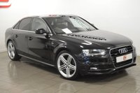 USED 2014 64 AUDI A4 2.0 TDI QUATTRO S LINE 4d 174 BHP ONLY 31K + 19 INCH ALLOYS + LEATHER + AUDI HISTORY