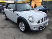 2014 MINI CONVERTIBLE 1.6 COOPER 2d 122 BHP IN PEARLESCENT SILVER WITH 59000 MILES IN IMMACULATE CONDITION. £8499.00