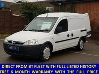 2010 VAUXHALL COMBO 2000 1.3 CDTi Direct From BT With History £3995.00