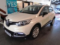 USED 2016 16 RENAULT CAPTUR 1.5 DYNAMIQUE NAV DCI 5d 90 BHP This Captur is £0 tax per annum. it's finished in ivory white with Black cloth seats. It is fitted with power steering, daytime running led lights, remote locking, electric windows and mirrors, cruise control, climatic air conditioning, DAB Satellite Navigation, Bluetooth, CD Stereo with USB & Aux port and more. Its had one owner from new & comes with a full service history consisting of receipts.  Finance and extended warranties are available.