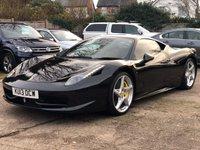 2013 FERRARI 458 4.5 ITALIA DCT 2dr AUTO 570 BHP £139000.00