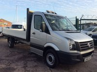 2016 VOLKSWAGEN CRAFTER LWB 2.0 CR35 TDI C/C DROPSIDE 14 FOOT BACK 109 BHP 1 OWNER FSH £13900.00