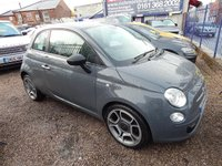 USED 2012 12 FIAT 500 0.9 TWINAIR 3d 85 BHP 1/2 LEATHER INTERIOR, AIR CONDITIONING , ALLOYS,