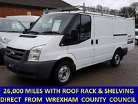 2011 FORD TRANSIT 300s SWB WITH ONLY 26,000 MILES FROM WREXHAM COUNCIL £6995.00