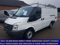2011 FORD TRANSIT 300 SWB WITH ONLY 33,000 MILES FROM WREXHAM COUNCIL £6995.00
