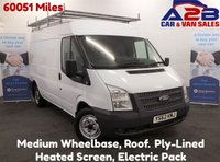 2013 FORD TRANSIT 2.2 280 100 BHP, Medium Wheelbase & Roof, Low Mileage 60051 Miles, FSH, Heated screen, Electric pack, Ply-lined, Roof Rack £6980.00