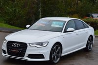 USED 2013 13 AUDI A6 2.0 TDI S LINE BLACK EDITION 4d 177 BHP BUY NOW AND PAY IN JANUARY.
